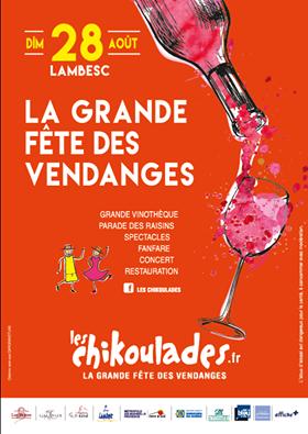 On vous attend nombreux pour la grande fête des vendanges Dimanche 28 août à Lambesc: les chikoulades