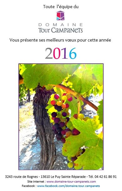 Meilleurs voeux et bonne année 2016