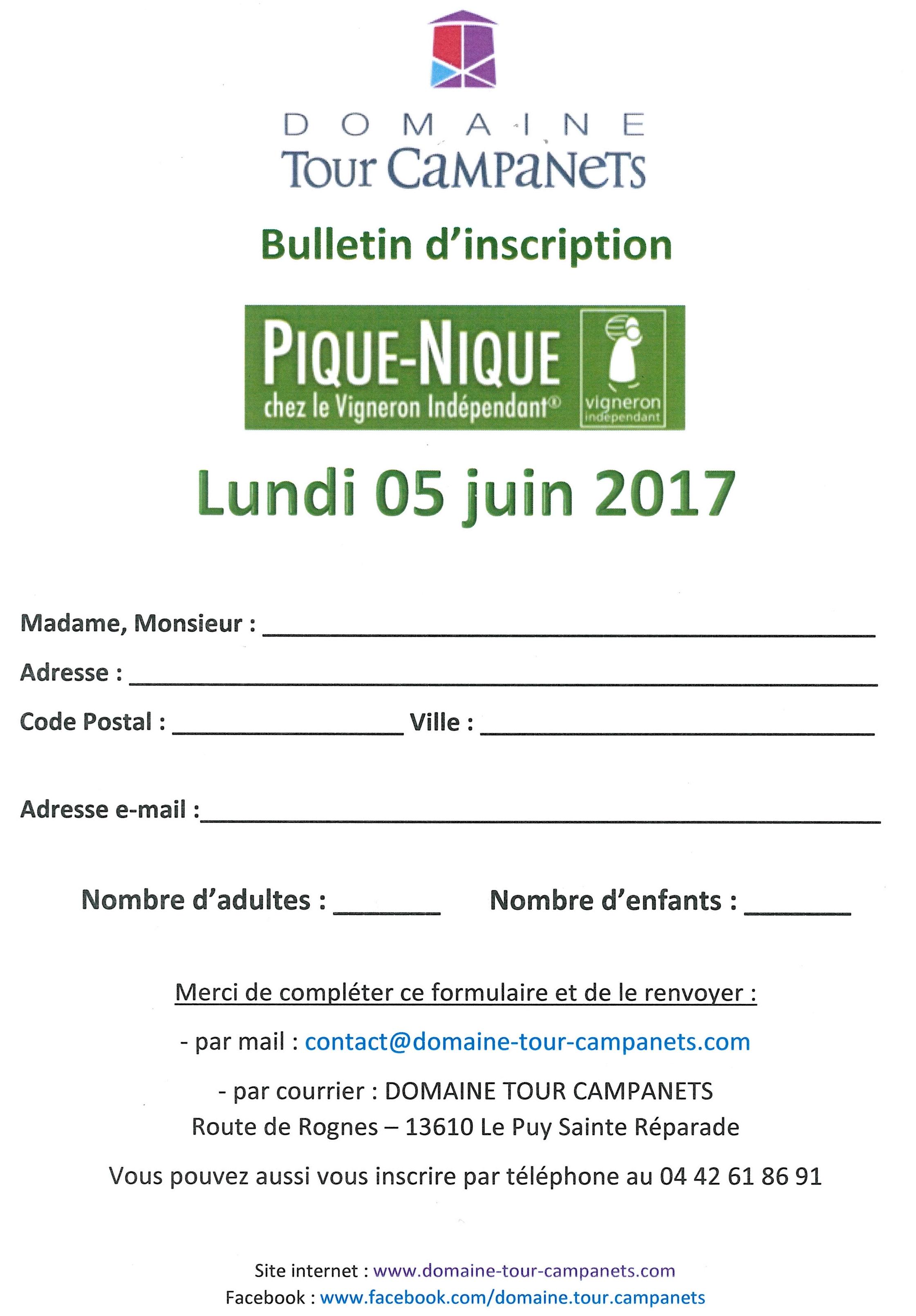 3ème édition du Pique Nique des Vignerons Indépendants