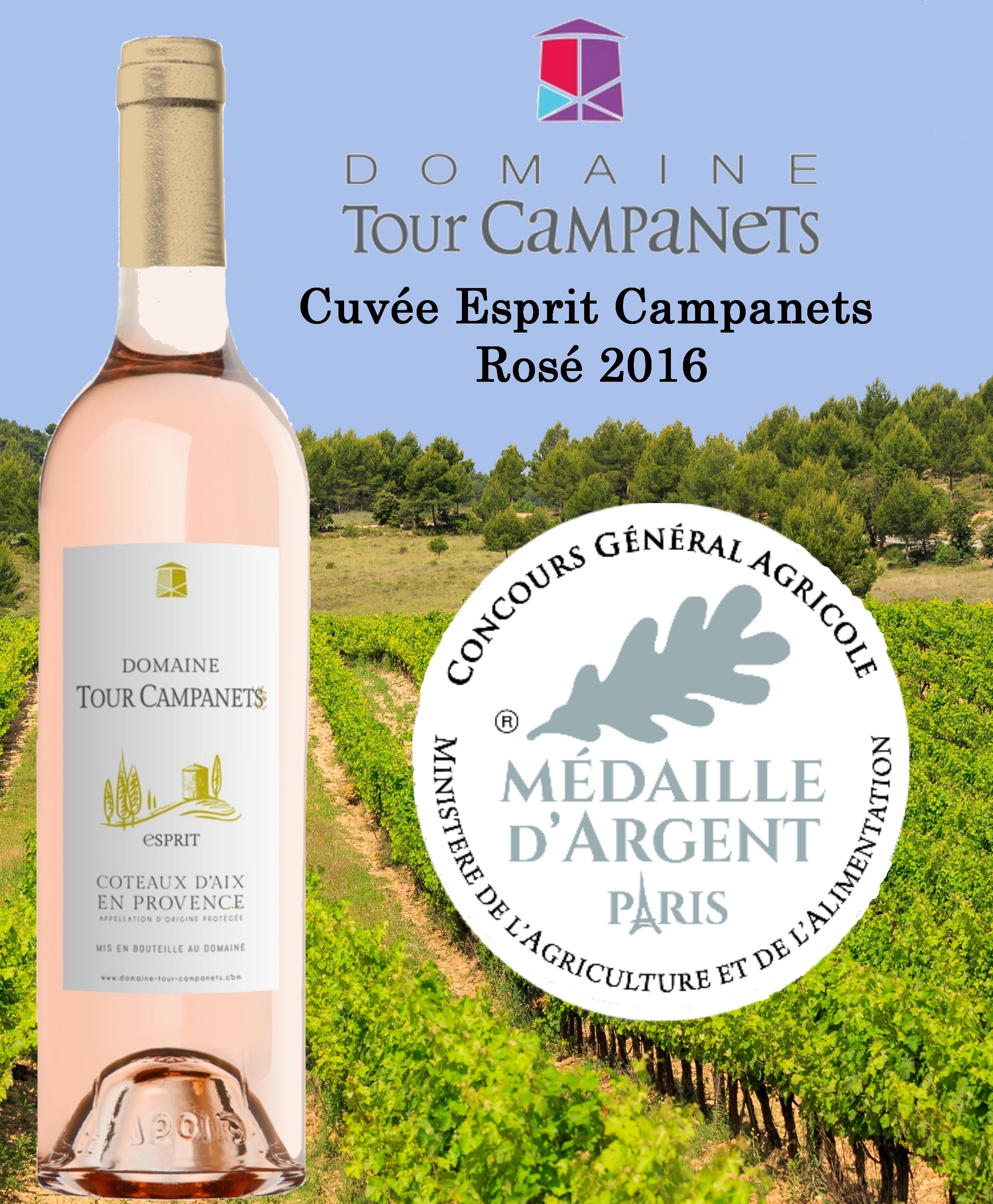 Notre cuvée Esprit Campanets médaillée au Concours Général Agricole de Paris !