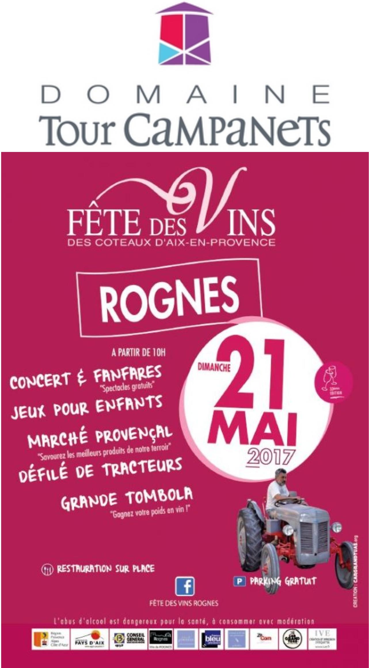 FETE DES VINS DE ROGNES COTEAUX D'AIX EN PROVENCE 21 MAI 2017