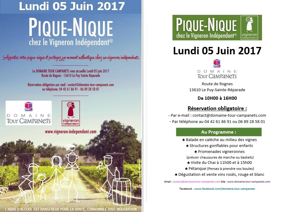 pique nique des vignerons indépendants 2017 DOMAINE TOUR CAMPANETS