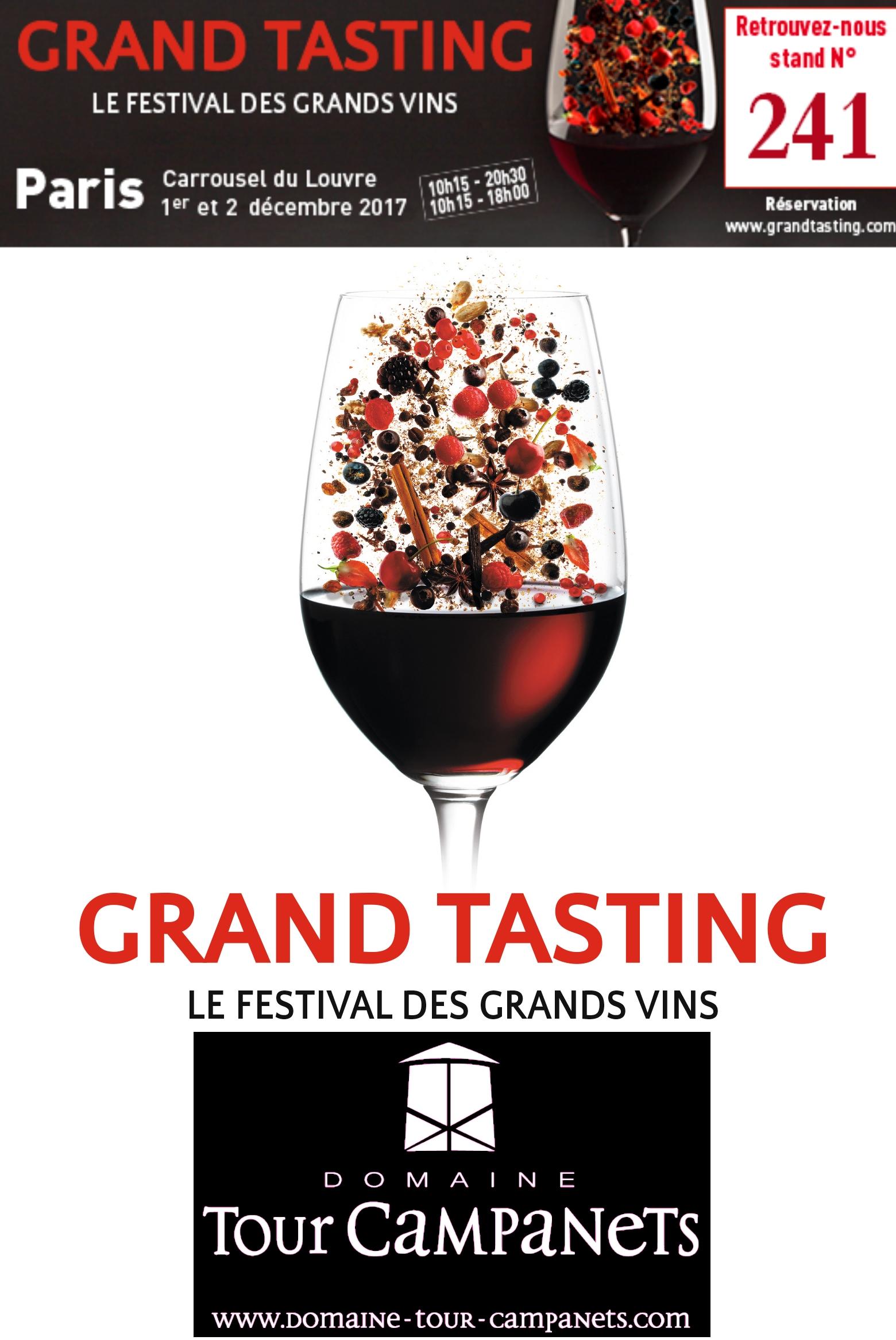 Retrouvez nous le 01 et 02 décembre 2017 au Caroussel du Louvre pour le Grand Tasting sur notre stand n° 241 (Salon réservé aux professionnels)