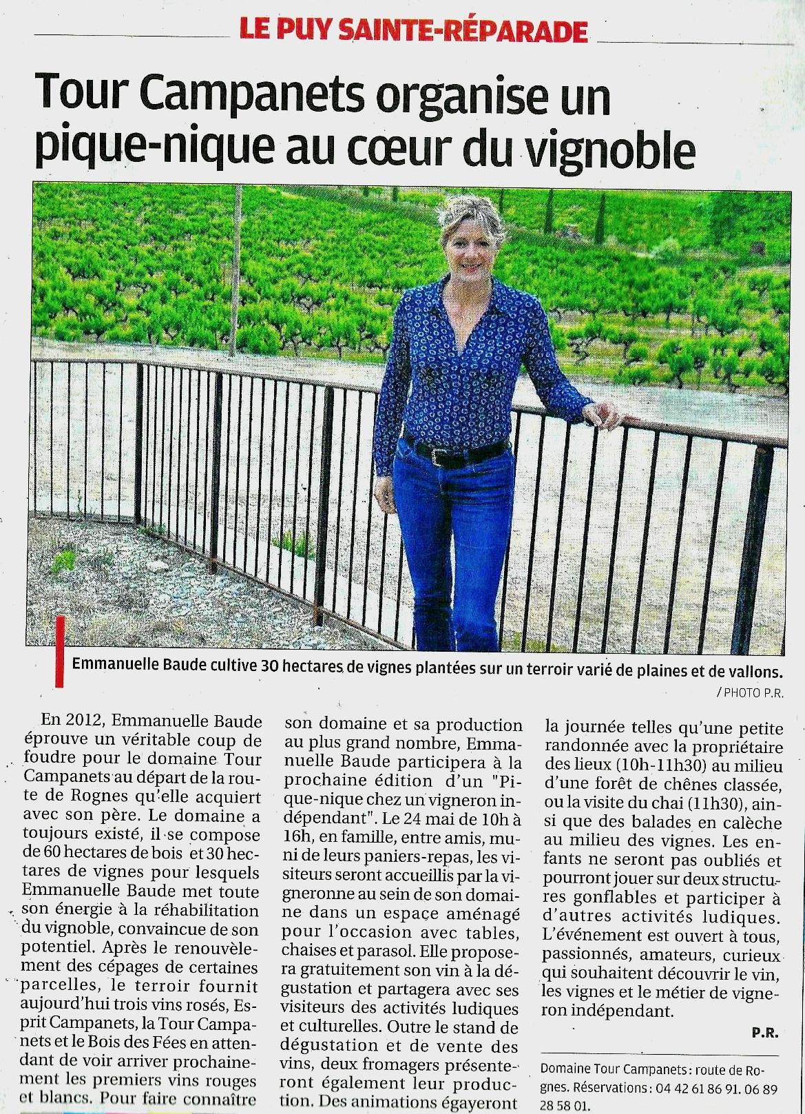 Article Pique Nique Domaine Tour Campanets