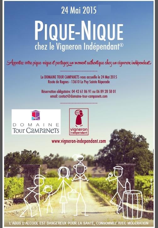 Domaine Tour Campanets le 24 mai 2015 Pique Nique Vigneron Indépendants