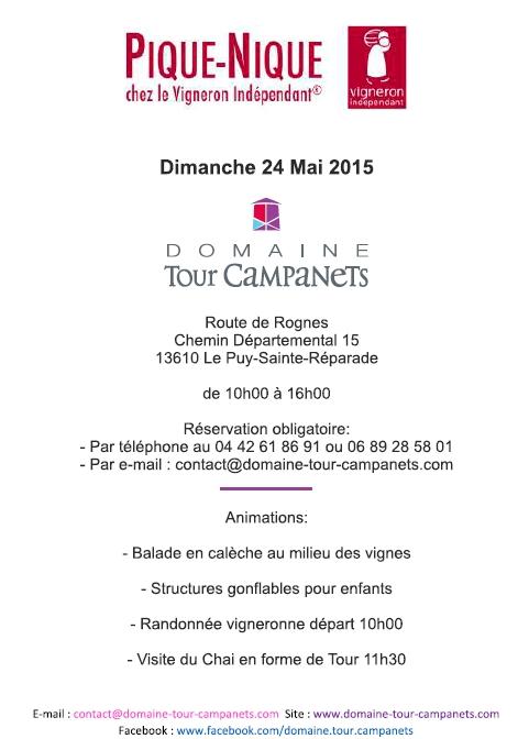 Pique-Nique Vigneron Indépendant le 24 mai 2015 Domaine Tour Campanets