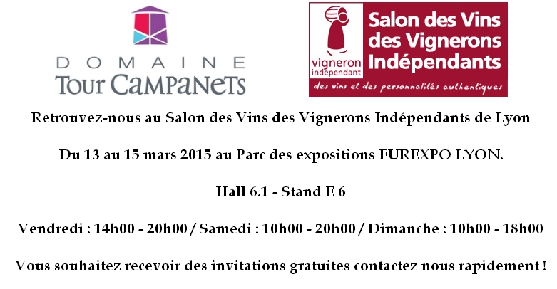 SALON DES VIGNERONS INDEPENDANTS LYON MARS 2015