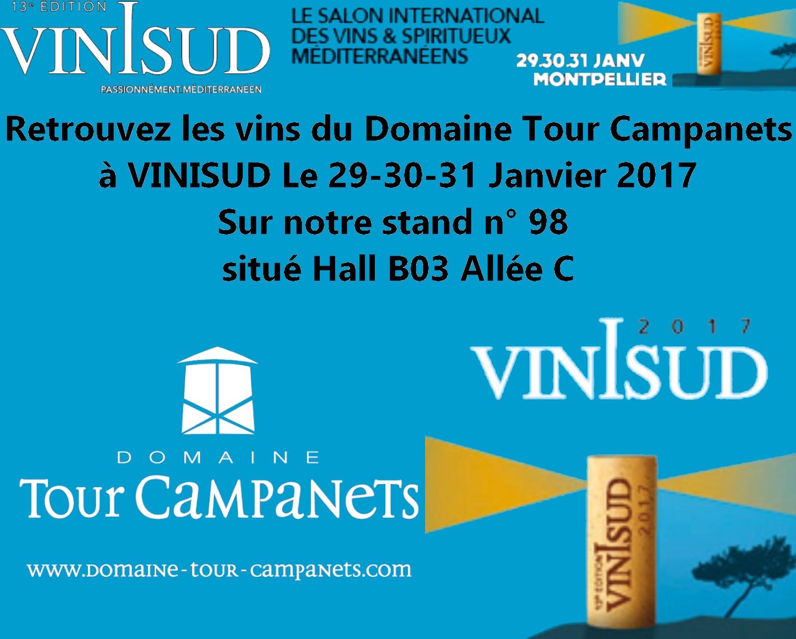 VINISUD 2017 DOMAINE TOUR CAMPANETS VINS DE PROVENCE