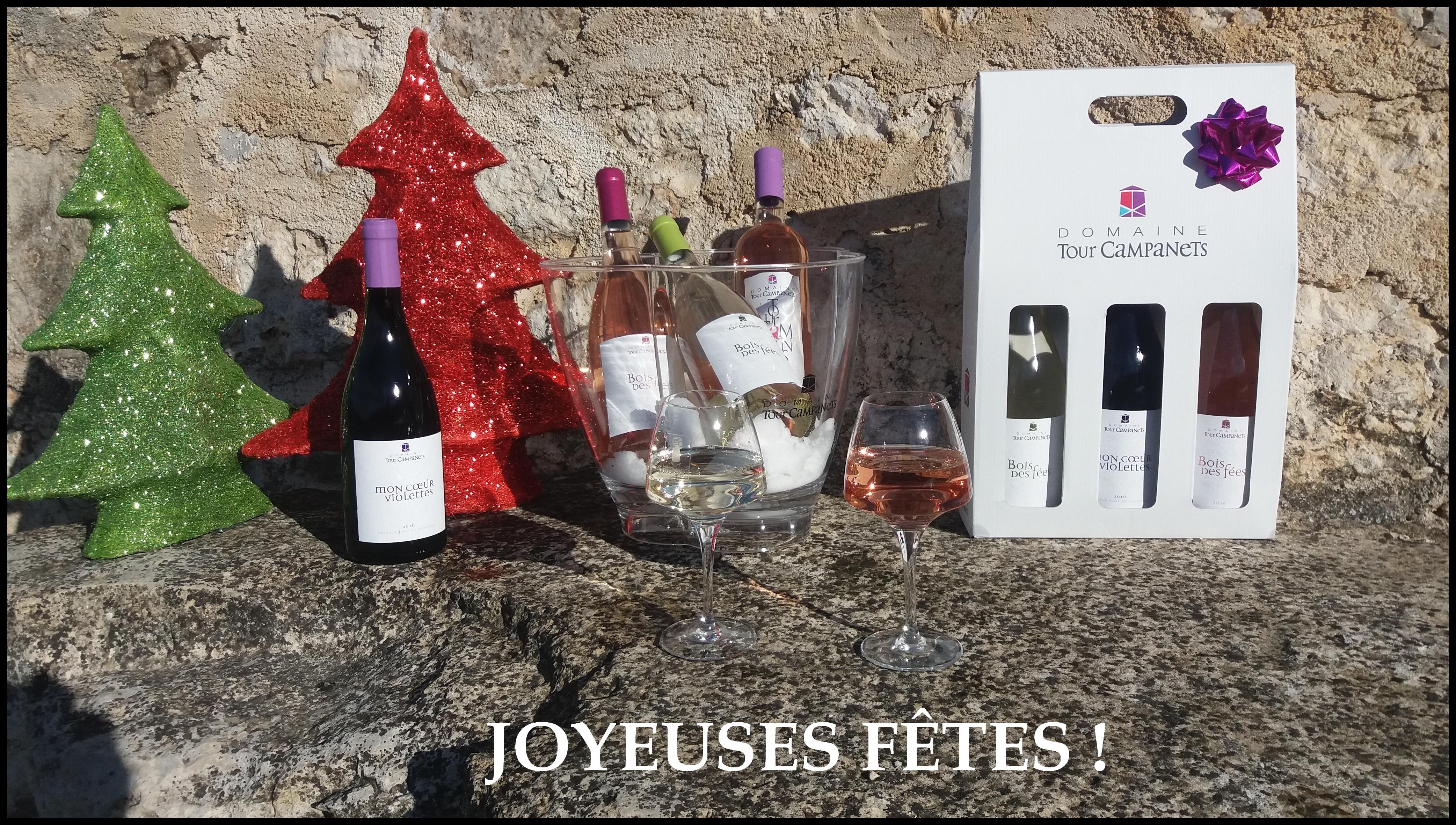 JOYEUSES FETES DE FIN D'ANNEE 2017 - JOYEUX NOEL 2017- DOMAINE TOUR CAMPANETS EN PROVENCES - VINS
