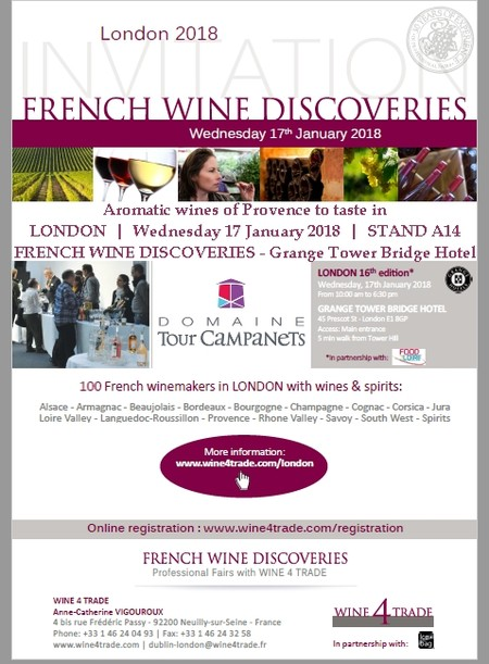SALON PROFESSIONNEL A LONDRES FRENCH WINE DISCOVERIES 2018